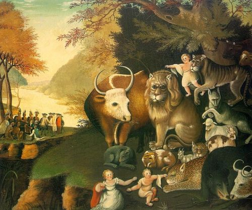 Edward Hicks, c. 1834: Peaceable Kingdom