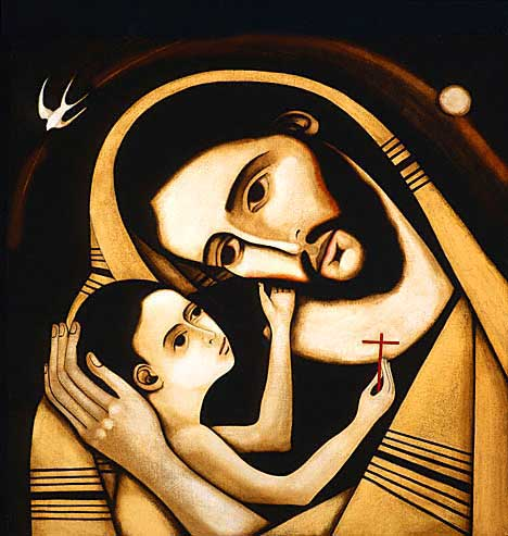 Jesus and his Dad. (artist unknown)