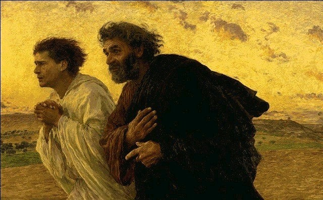 Eugene Burnand: Peter and John Running to the Tomb