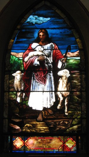 Good Shepherd window, St. John's, Union City, New Jersey, USA