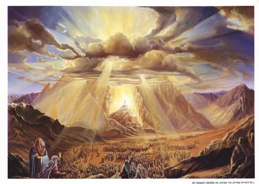 Cloud of the Presence over Mt. Sinai (unknown artist)
