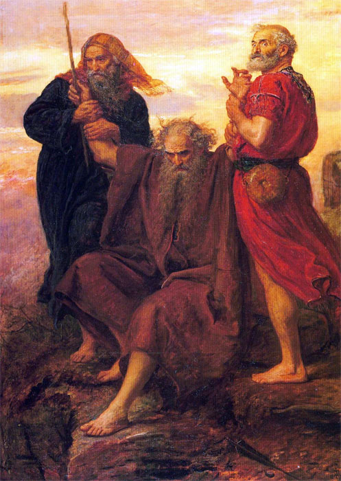 John Everett Millais: Victory, O Lord. While Joshua was fighting the Amalekites, Moses had to stand with his arms upraised. But he got tired, so Aaron and Hur sat him down and lifted his arms up for him. Lifting up our hands is a form of prayer; what power there is in this liturgical act!