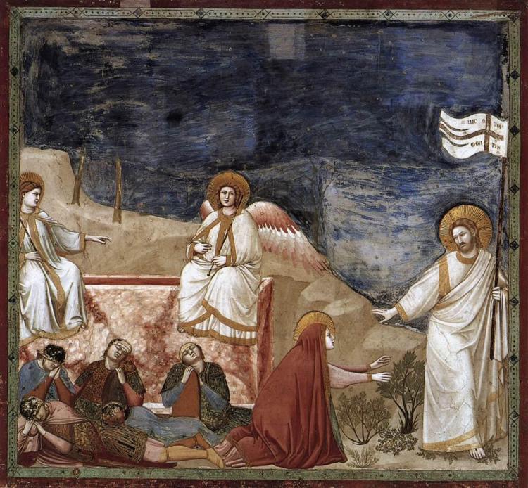 Giotto di Bondone: Resurrection.