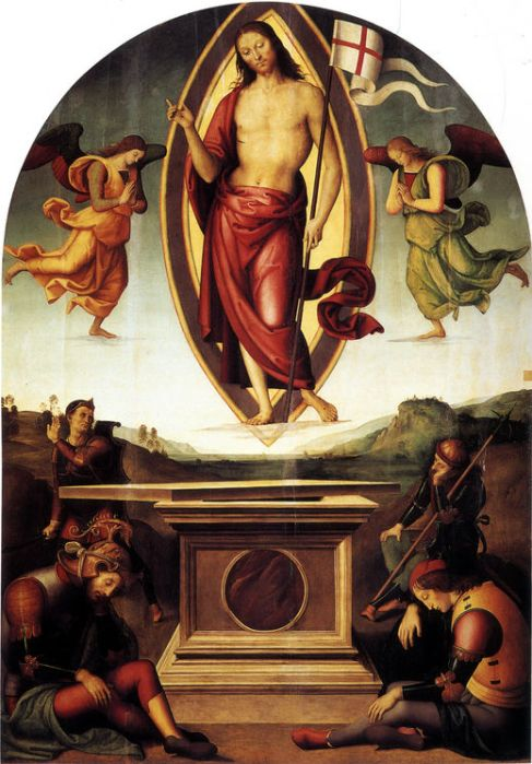 Pietro Perugino, c. 1499: Resurrection (Vatican Museums)