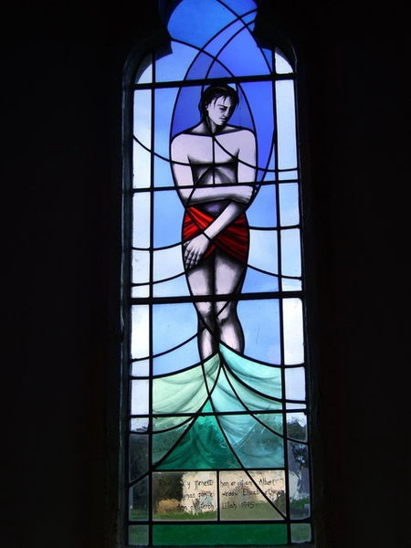 Ascension window at St. Peter's, Castell Newydd Bach/Little Newcastle, Wales.