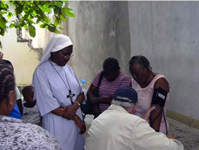 The Sisters of St. Margaret, headquartered in Massachusetts, have had a mission in Haiti since 1927, ministering especially to seniors and the disabled. (convent photo)