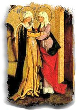 Mary and Elizabeth were cousins; so were their sons, Jesus and John the Baptist. (unknown artist)
