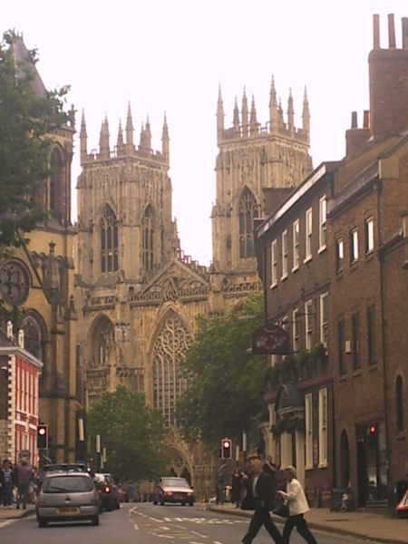 Streetscape outside York Minster, England. (source unknown)