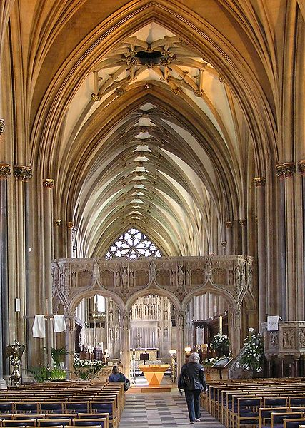 Bristol Cathedral, England. Love the vaulting.