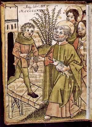 "Augustin Tünger in ""Facetiae,"" 15th century: St. Peter Pays the Temple Tax."