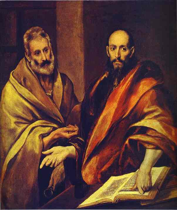 El Greco, c. 1607: St. Peter and St. Paul