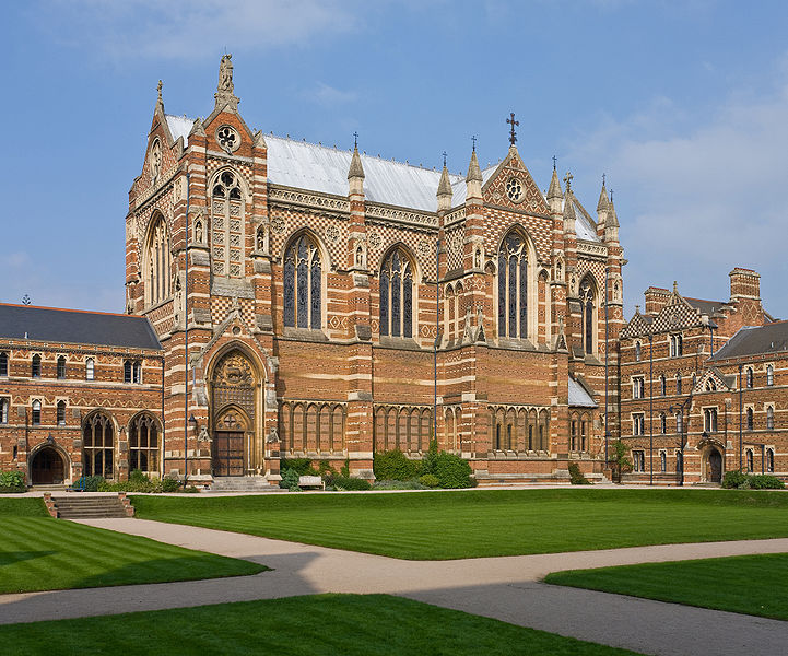 """Keble College Chapel, Oxford University. Within three years of his death, the college bearing his name was founded """"to give an education in strict fidelity to the Church of England."""" He'd previously served the university as Professor of Poetry for ten years; his poem cycle """"The Christian Year"""" was so beloved it went through 95 editions."""