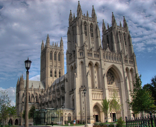 The Cathedral Church of St. Peter and St. Paul, on the highest hill in Washington, D.C.: Americans have the freedom to worship however we want.