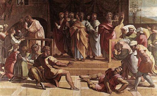 Raphael, 1515: Death of Ananias
