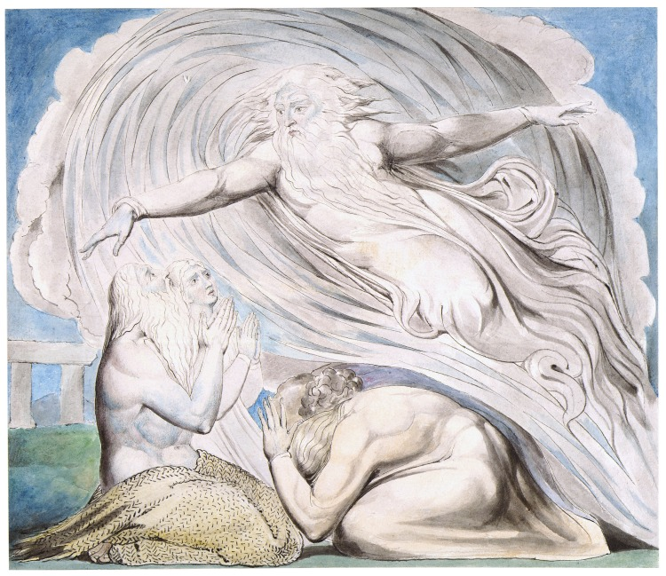 William Blake: The Lord Answering Job out of the Whirlwind. (Tate Gallery)