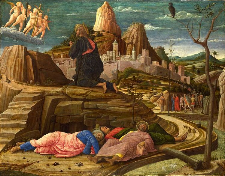 Andrea Mategna, c. 1460: Agony in the Garden