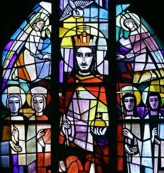 Christ the King window, Holy Trinity Lutheran Church, Lafayette, Indiana. (Journal and Courier)