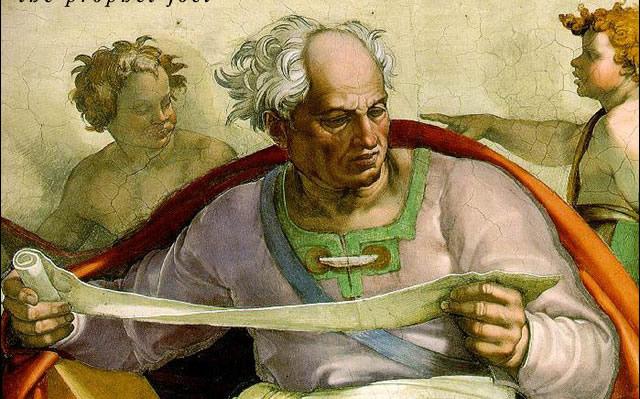 Michelangelo: The Prophet Joel. (Sistine Chapel)