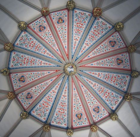 Ceiling of the Chapter House at York Minster. (Michael Wilson)