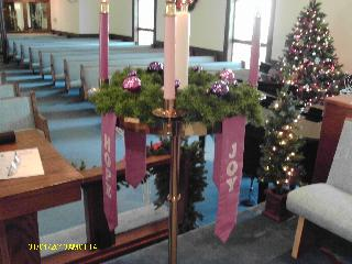 "Advent 3 is ""Rose Sunday"" at Broadway United Methodist, New Philadelphia, Ohio, USA."