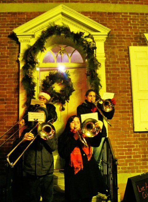 "The city of Bethlehem, Pennsylvania sponsors a nightly ""living Advent calendar"" to draw people downtown. People gather in front of a house, a guest is chosen to knock on the door, and someone comes out to offer everyone treats. And what would it be without a wonderful Advent Band? Every place needs an Advent Band; and when your name is Bethlehem, you know what Advent's for."