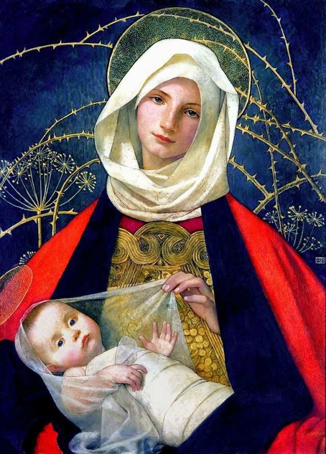 Marianne Stokes: Madonna and Child
