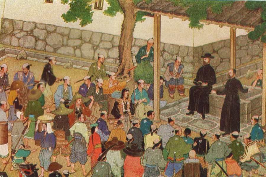 Utsumi: St. Francis Xavier in Japan. He was a co-founder of the Jesuits and a missionary in India, Sri Lanka, Indonesia, China and Japan. His efforts were not always well-received; converts were often abused, enslaved and sometimes killed.