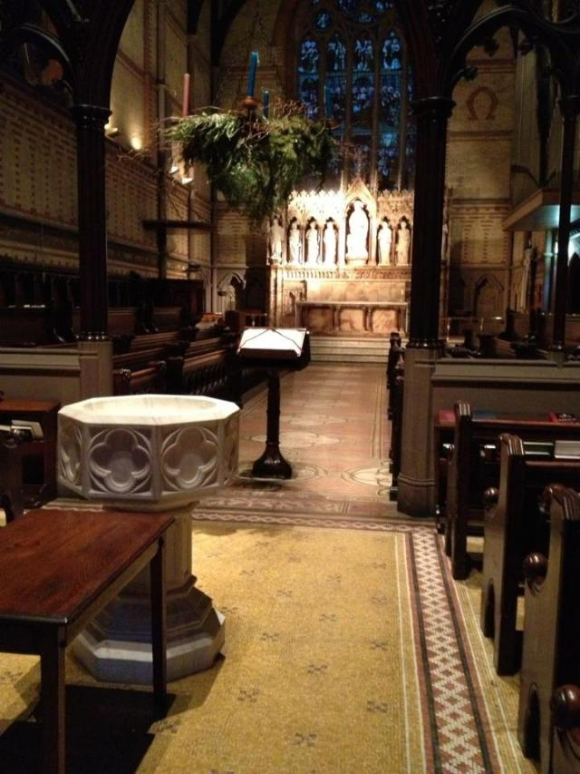There are two sacred spaces in my life: my home parish and the Chapel of General Seminary, New York. (Fr. Robert Solon Jr.)