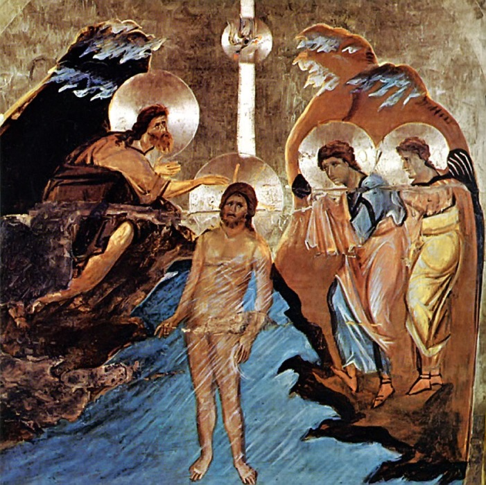 Jesus Baptized by John the Baptist in the River Jordan (St. Catherine's Monastery, Mt. Sinai)