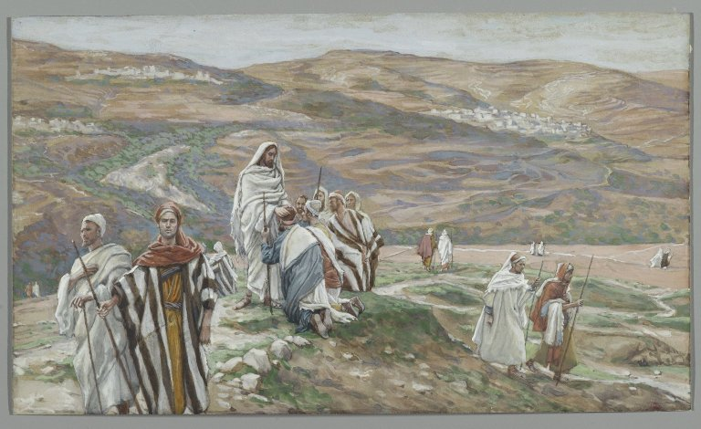 James Tissot, 1886-96: Christ Sent Them Out Two by Two (Brooklyn Museum)