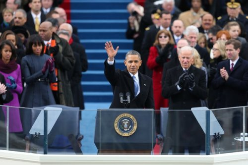 President Obama at his second inauguration earlier today. (Chang W. Lee/The New York Times)