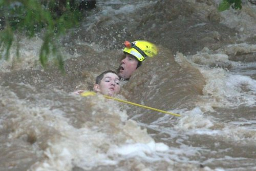 Heart-wrenching floods this week in Queensland, Australia. The country has seen deadly extreme weather all summer; record-smashing heat, wildfires and now a typhoon. God save Australia!