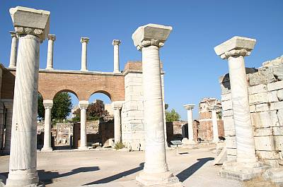 We're reading Paul's letter to the Ephesians this week, and these are the ruins of St. John's Basilica in Ephesus, Turkey. Tradition says the Apostle John was buried on this spot.