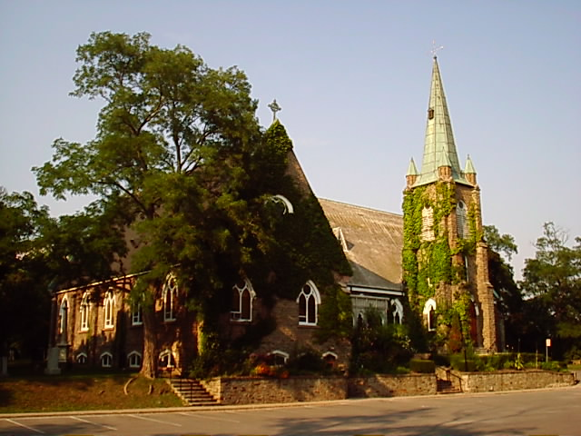 St. Peter's, Erindale, Mississauga, Ontario, a village that's now a suburb of Toronto. (parish photo)