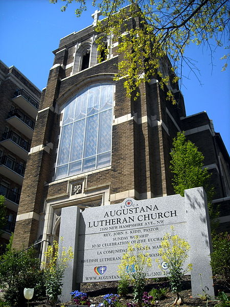 For Episcopalians, this is a day not only to honor Luther's place in history, but to celebrate full communion with the Evangelical Lutheran Church in America, the largest of the Lutheran branches in this country – with special thanksgiving for shared ministry at the altars of our parishes and missions. Above: Augustana Lutheran in Washington, D.C. was founded in 1918 by Swedish immigrants.