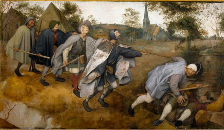 The Blind Leading the Blind, by Pieter Bruegel the Elder, 1568.