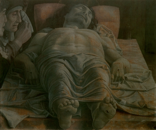 Station 14, Andrea Mantegna: Dead Christ in the Tomb