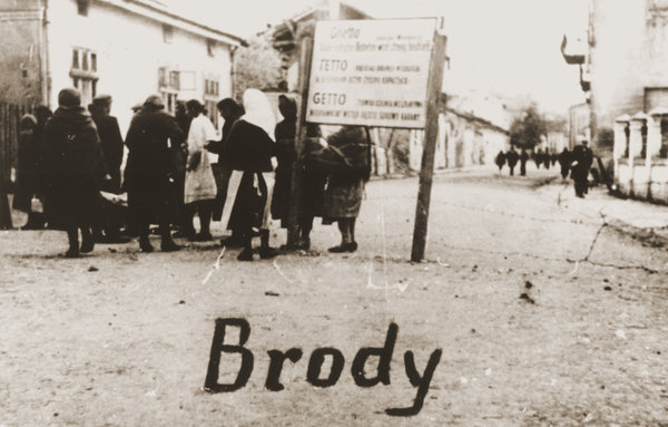 """Jewish ghetto in Brody, Eastern Galicia, 1942. A new study has found that the number of Nazi concentration camps, ghettos and slave labor facilities was far greater - 42,500 - than previously known, a story headlined by The New York Times as """"The Holocaust Just Got More Shocking."""" See maps below. (U.S. Holocaust Memorial Museum/Eugenia Hochberg Lanceter Collection)"""