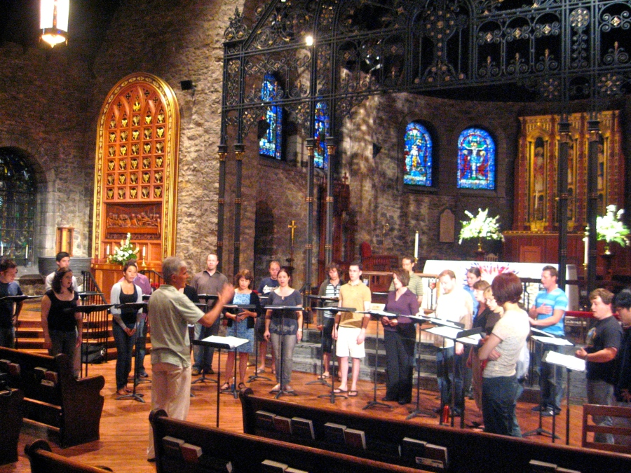 A music rehearsal in 2009 at Grace and Holy Trinity Cathedral, Kansas City, in the Diocese of Western Missouri. (Jeffrey Carter)