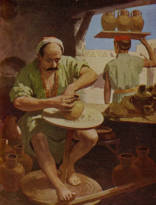 If a pot goes bad, the potter has to start over. (Artist unknown)