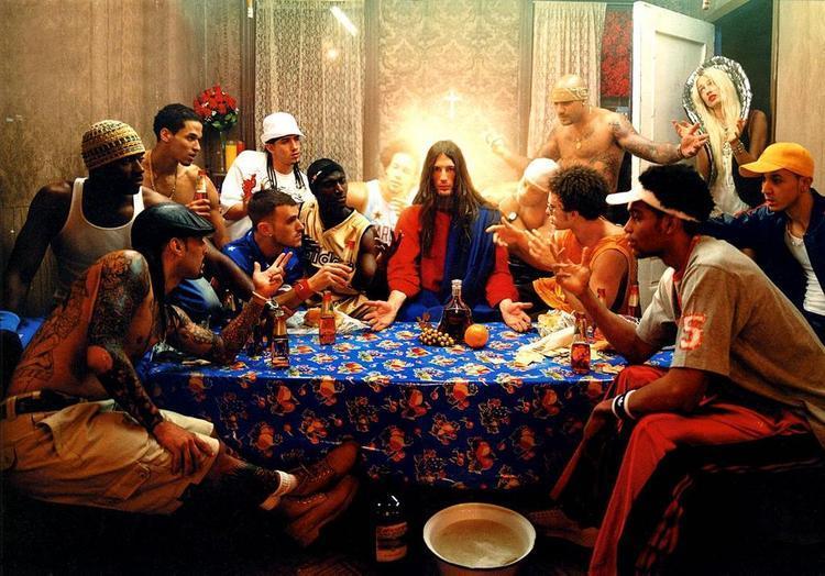 Jesus and friends. (David LaChapelle)