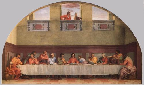 Andrea del Sarto, c. 1520: The Last Supper. Click to enlarge.