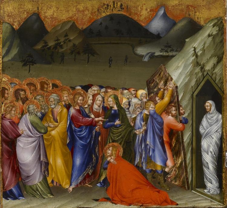 Giovanni di Paolo, 1426: Resurrection of Lazarus. (Walters Art Museum, Baltimore)