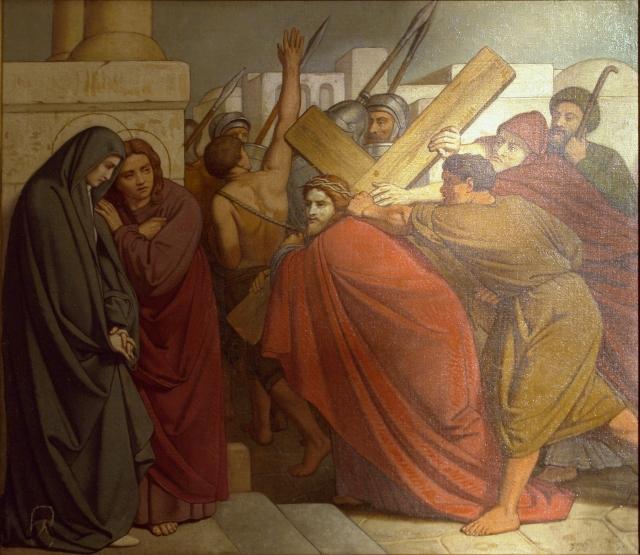 Station 4: Jesus meets his mother. (St. Jean Baptiste au Beguinage)
