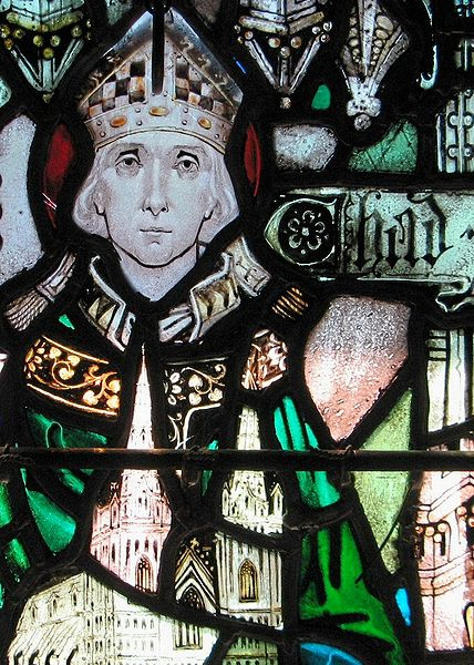 St. Chad, one of four brothers dedicated to the Church, was trained in the Celtic tradition by St. Aidan. He was an abbot, later appointed Bishop of York. When a new Archbishop of Canterbury showed up, insisting on Roman conformity in ordination, Chad offered to resign. Theodore reordained him as Bishop of Lichfield – and then had to keep him from making all his visitations on foot like Christ's own apostles. (Holy Cross Monastery)