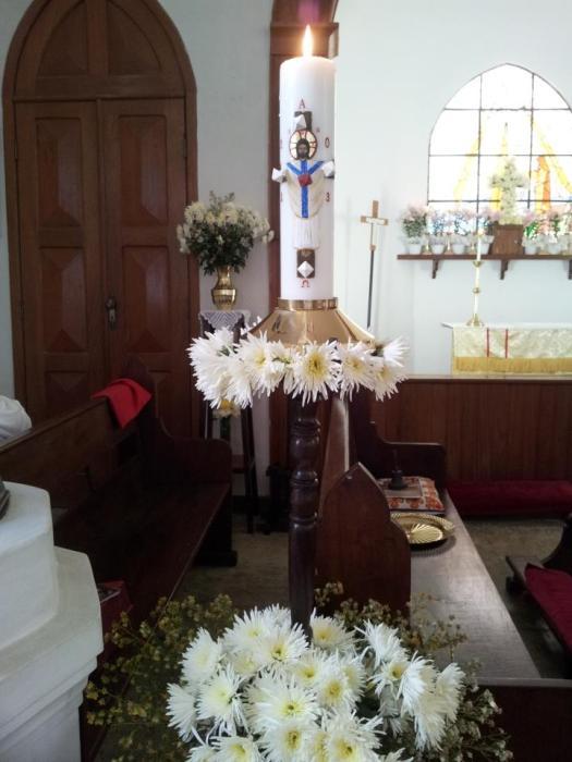 Paschal candle 2013, Holy Trinity, Méier, Rio de Janeiro, Brasil. (The Rev. Luiz Coelho, Jr.)