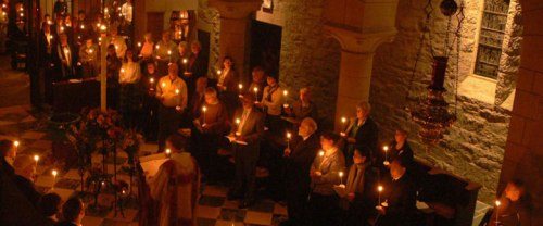 Easter Vigil last year at the Society of St. John the Evangelist, Boston. Let your light shine.