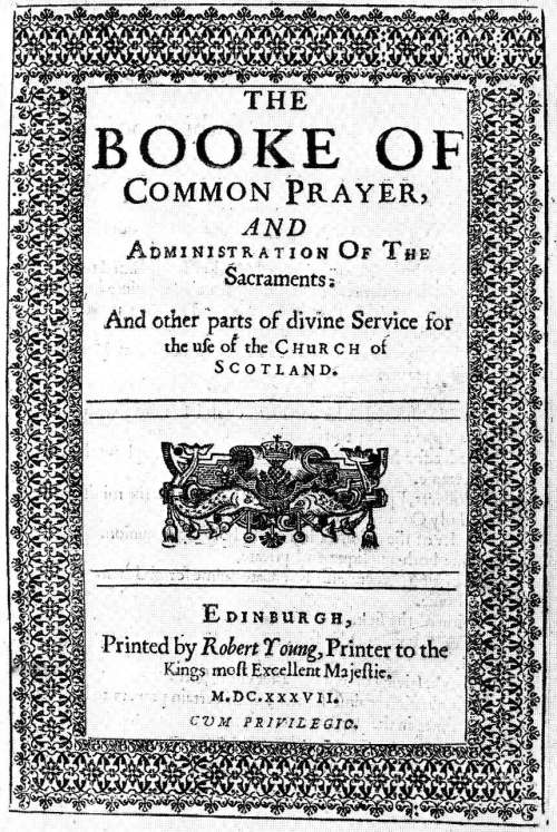 The 1637 Book of Common Prayer of the Episcopal Church of Scotland. Archbishop Cranmer's English Book of 90 years earlier is world-famous for its eloquence, but what made it revolutionary was that it eliminated Latin. Since then, every national Anglican Church, language and ethnic group has produced its own version based in important ways on the original. More than any Archbishop, it's this Book that unites us as a worldwide Communion.