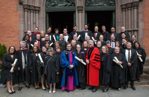 Commencement at the General Theological Seminary, New York, May 15; 46 of the servants of Christ were awarded very big pieces of paper.