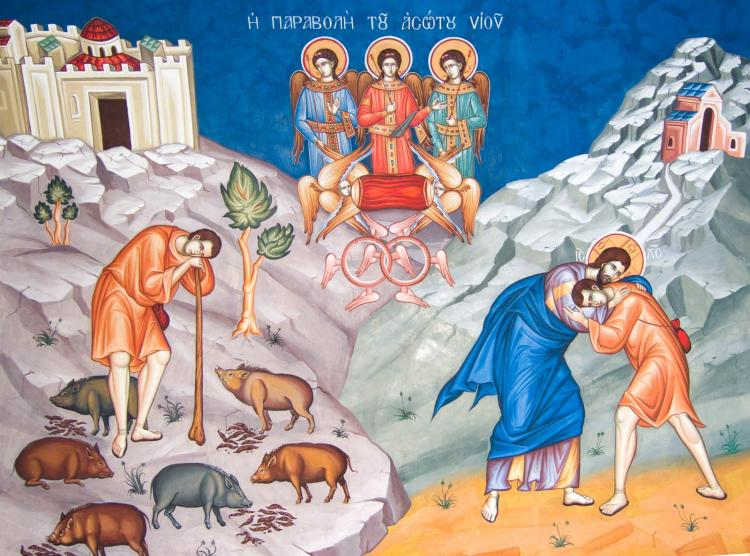Parable of the Generous Father. (unknown iconographer)